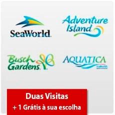 SeaWorld Parks - 2 visitas + Uma grátis - Acima de 3 anos (Ingresso Eletrônico)